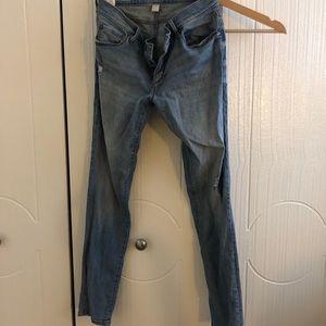 Ann Taylor loft distressed boyfriend jeans